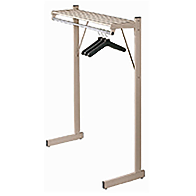 DS Series Hanger Style Coat Rack w/Hat Shelf & Chrome Hang Bar
