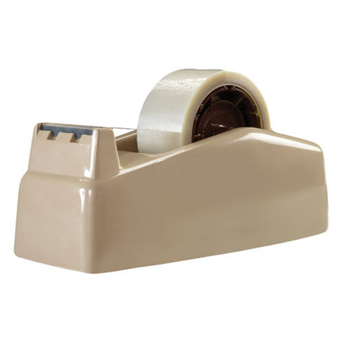 "Dual-Roll Tape Dispenser, 3"" Core, Beige"