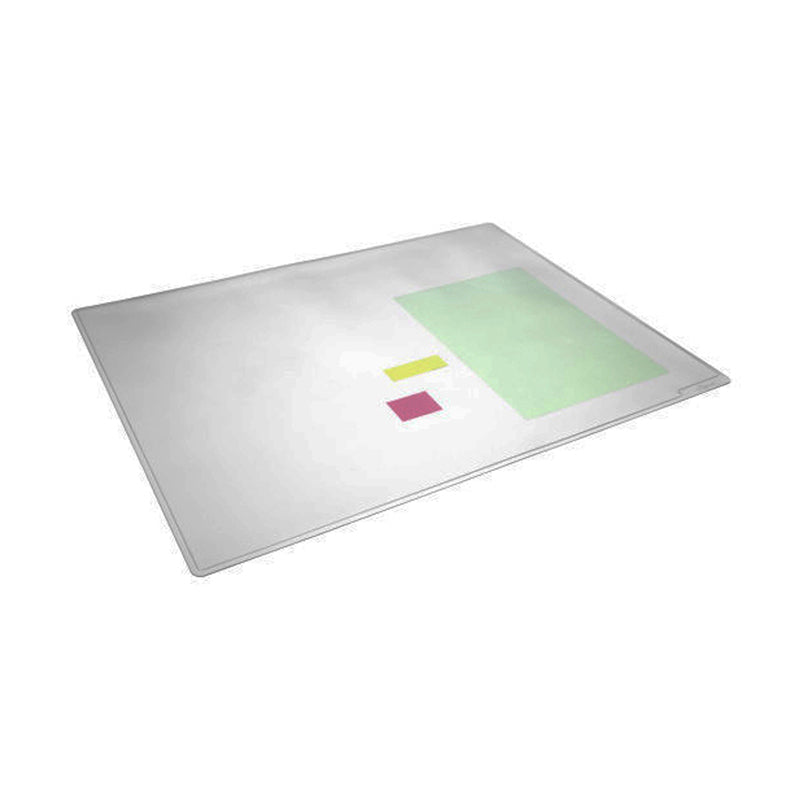 DuraGlass Desk Pad w/ Overlay, Clear