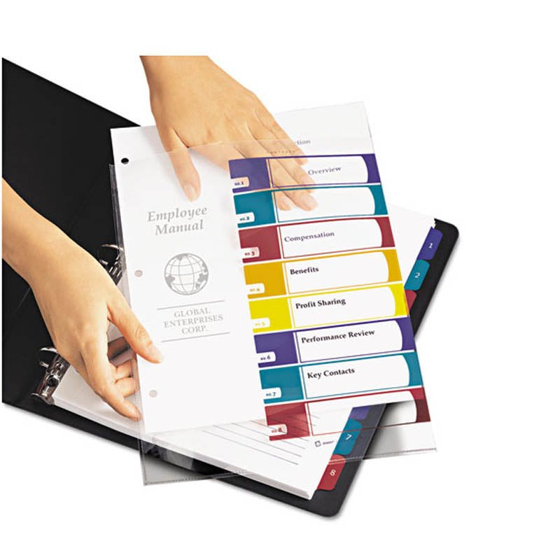 Easy Edit Ready Index Table of Contents Dividers w/ Multicolor Tabs, 1-10,  Letter (pack of 6 sets)