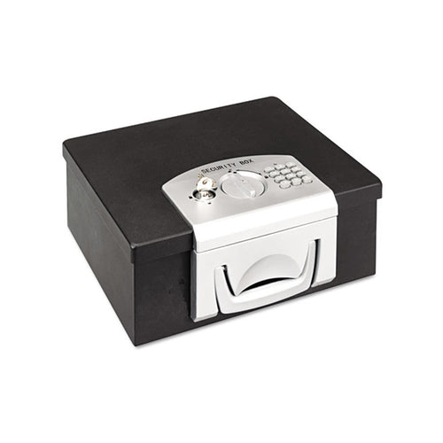 Electronic Combination Lock Cash Box, Black