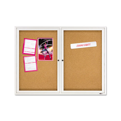Enclosed Indoor Cork Bulletin Board w/ Doors