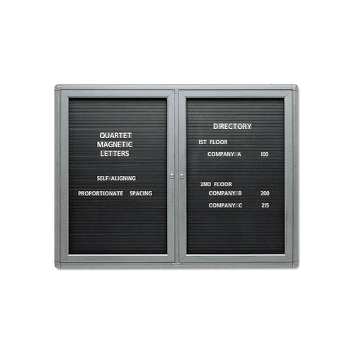 Enclosed Magnetic Directory Board w/ Doors, Gray Frame
