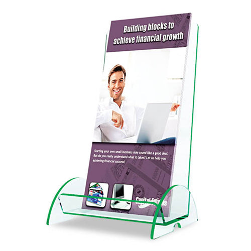 Euro-Style 1-Pocket Countertop Brochure Holder