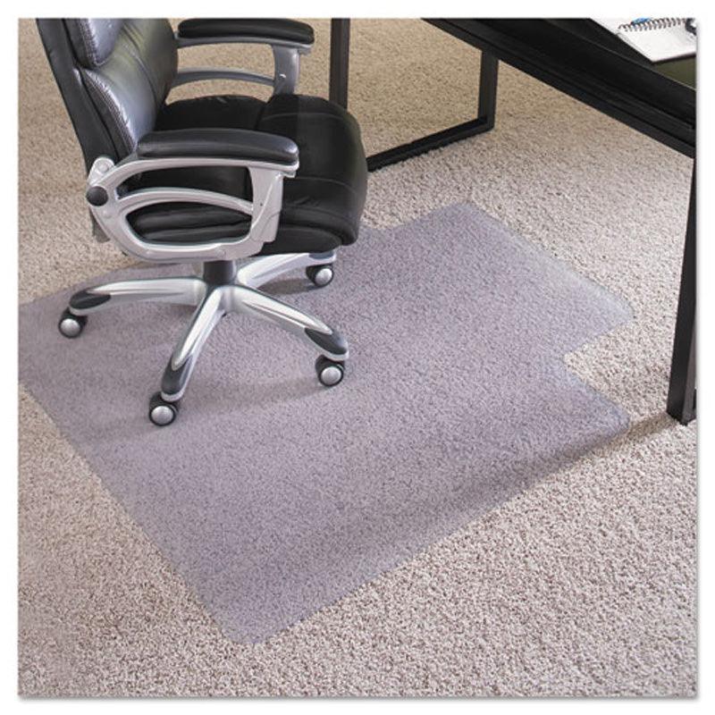 everlife chair mat plush pile carpet clear ultimate office