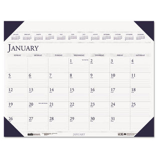 "Executive Monthly Desk Pad Calendar, 24"" X 19"", 2021"