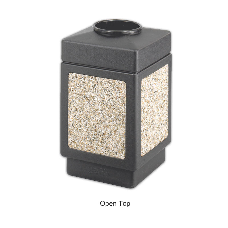 Faux Gravel Indoor/Outdoor Trash Can