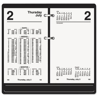 "Financial Desk Calendar Refill, 3 1/2"" X 6"", White, 2021"
