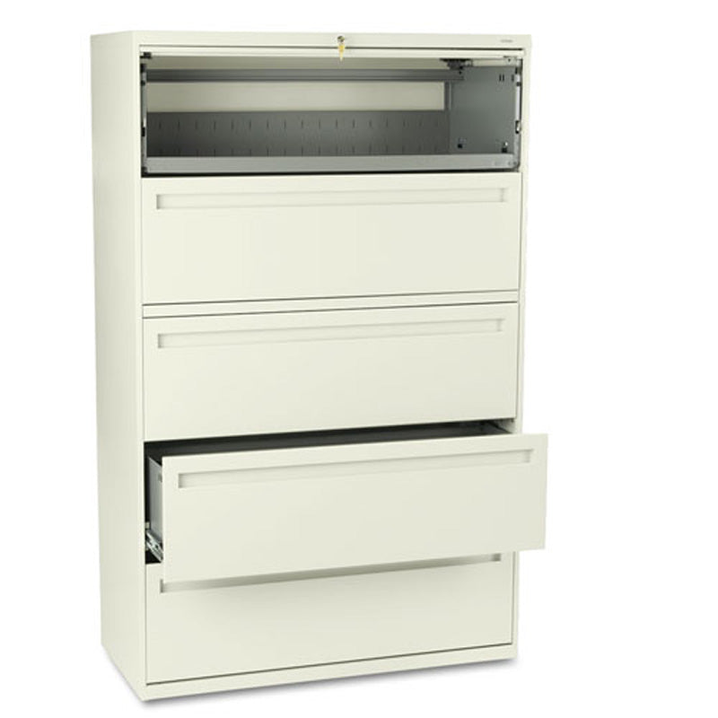 lateral file cabinet. Five-Drawer Heavy-Duty Lateral File Cabinet W/ Roll-Out \u0026 Posting Lateral File Cabinet