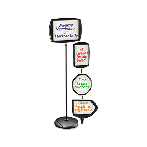 Floor Stand Dry-Erase Sign Holder, Black Frame (3 models)