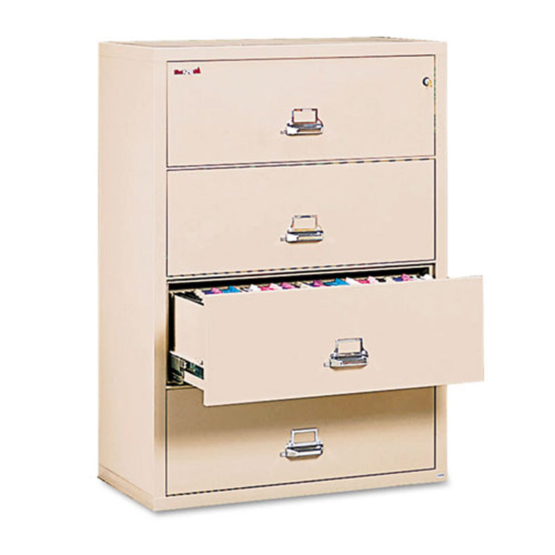 Four-Drawer Letter/Legal Insulated Lateral File Cabinet, Parchment