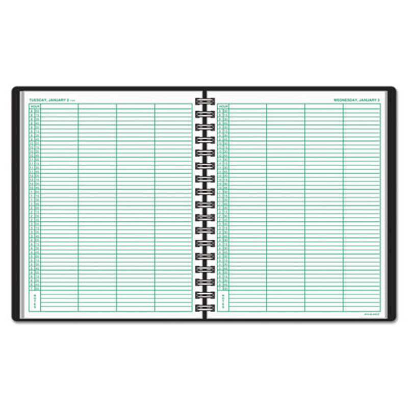 four person group daily white appointment book ultimate office