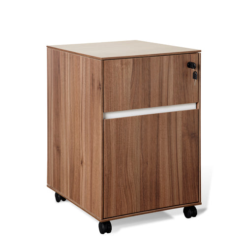 300 Series 1 Supply & 1 Hanging File Wooden Pedestal