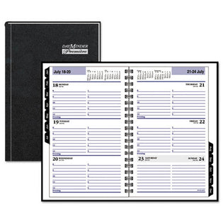 Hardcover Weekly Appointment Book, Black, 2021