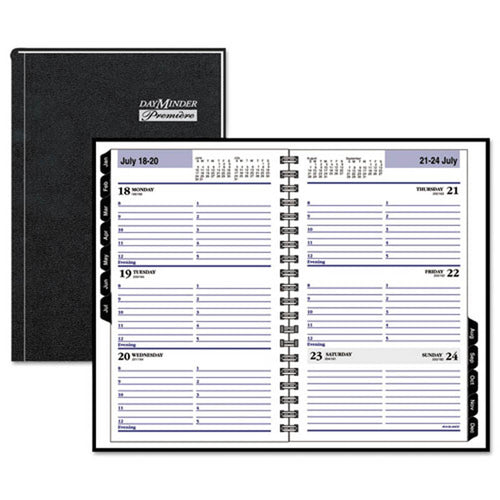 Hardcover Weekly Appointment Book, Black, 2019