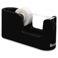 "Heavy-Duty Weighted Desktop Tape Dispenser, 3"" Core, Black"