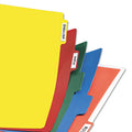 Heavy-Duty Write-On Plastic Index Dividers w/ White Adhesive Labels, 8-Tab, Ltr, Assorted