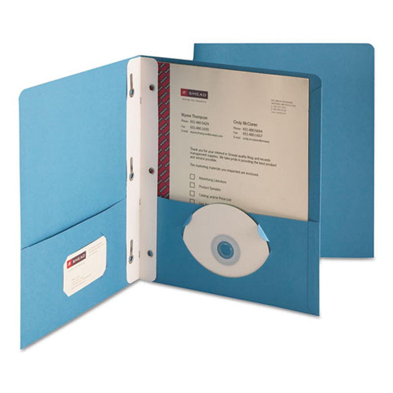 Heavyweight Twin-Pocket Folders w/ Prong Fastener, Letter, Box of 25