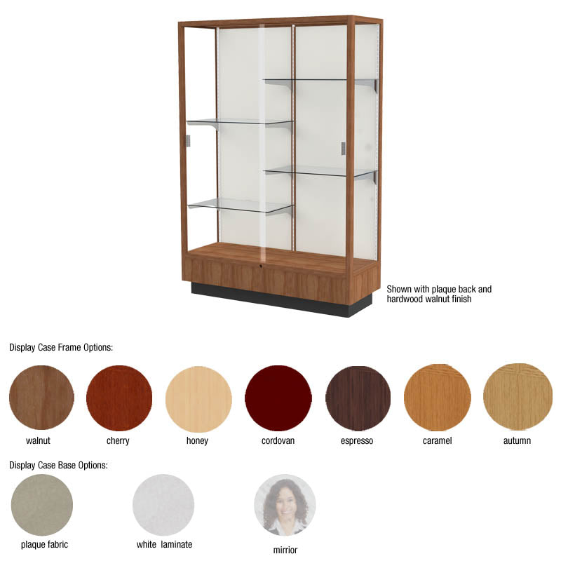 "Heritage 48""w x 70""h x 18""d Floor Display Case"