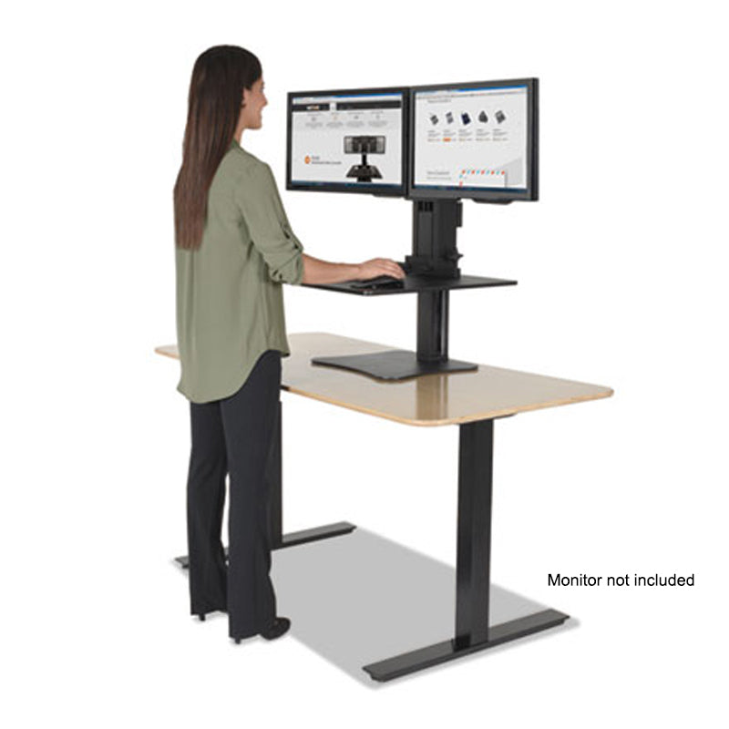 High Rise Collection Dual Monitor Sit Stand Desk Converter