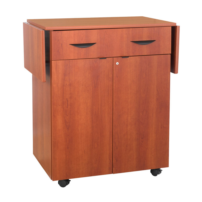 Hospitality Cabinet w/ Utensile Drawer & Extendable Drop Leaf Top