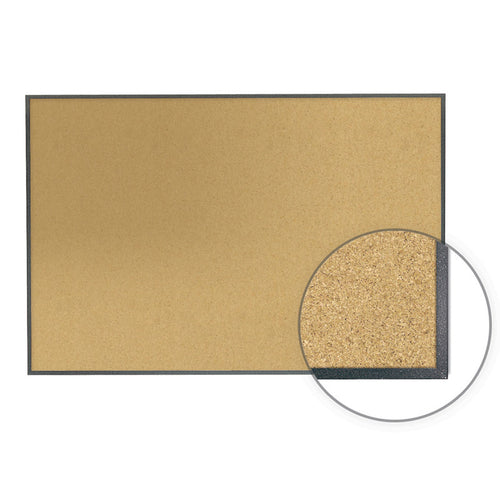 Image Trim Natural Cork Bulletin Board, Graphite Fleck