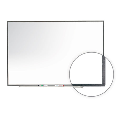 Image Trim Porcelain Magnetic Whiteboard w/ Marker Tray, Graphite Fleck