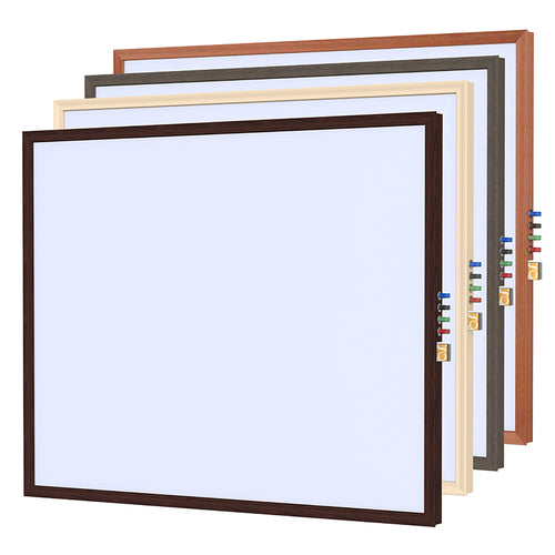 Impressions Classic Wood Frame Porcelain Magnetic Whiteboard
