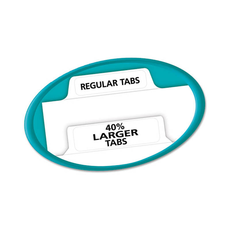 Index Maker Clear Label Punched Dividers w/ Big Tabs, 5-Tab, Letter, White