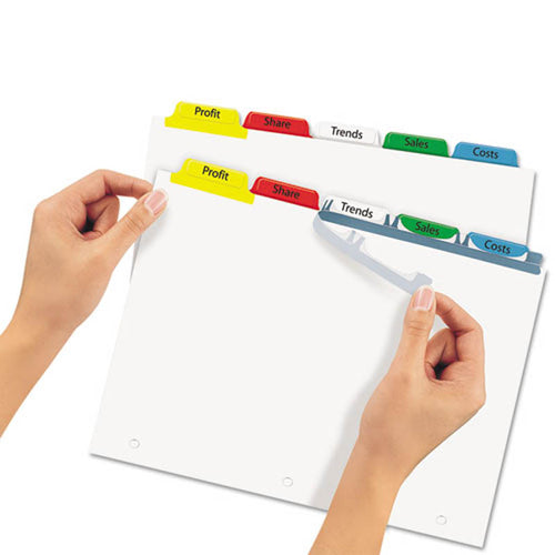 Index Maker Clear Label Punched Dividers w/ Color Tabs, 5-Tab, Letter