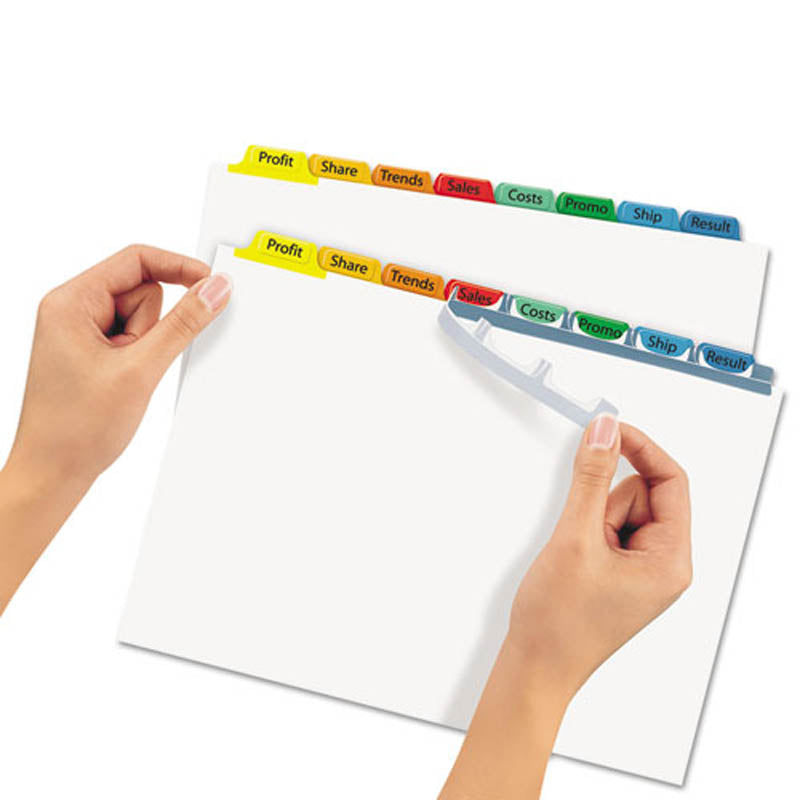 Index Maker Clear Label Punched Dividers w/ Color Tabs, 8-Tab, Letter