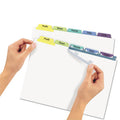 Index Maker Clear Label Punched Dividers w/ Contemporary Color Tabs, 5-Tab, Letter