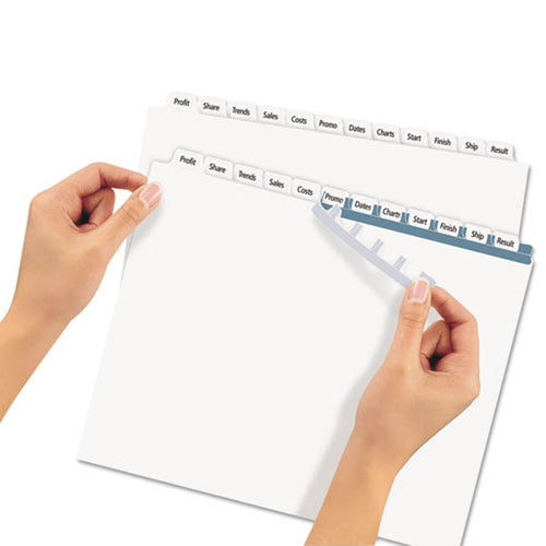 Index Maker Clear Label Punched Dividers w/ Tabs, 12-Tab, Letter