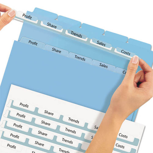 Index Maker Clear Label Punched Translucent Dividers, 5-Tab, Letter