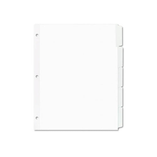 Index Maker White Dividers For Copiers, 5-Tab, Letter (pack of 5 sets), White