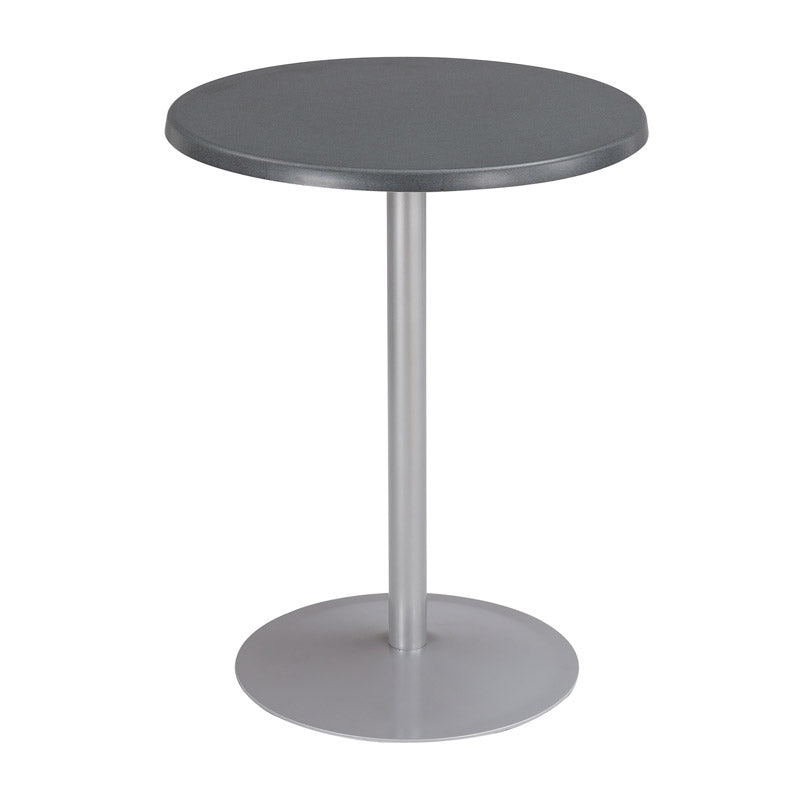 Indoor/Outdoor, Round Table w/ Silver Base