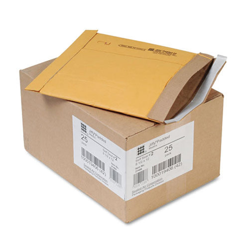 Jiffy Padded Self-Seal Mailers, Gold (box of 25)
