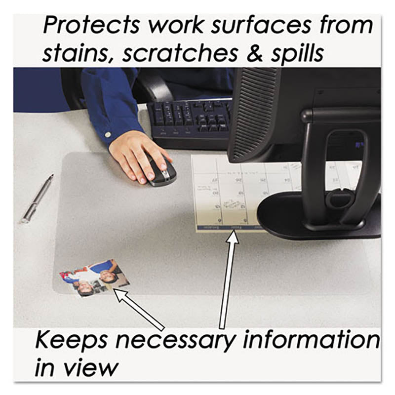 KrystalView Desk Pad w/ Microban Protection, Clear