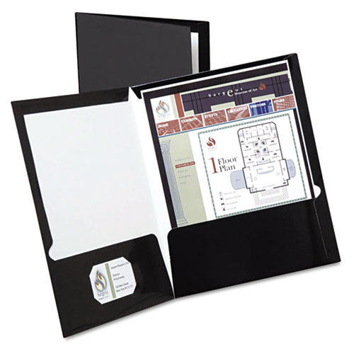 Laminated Twin-Pocket Folders, Letter, Box of 25