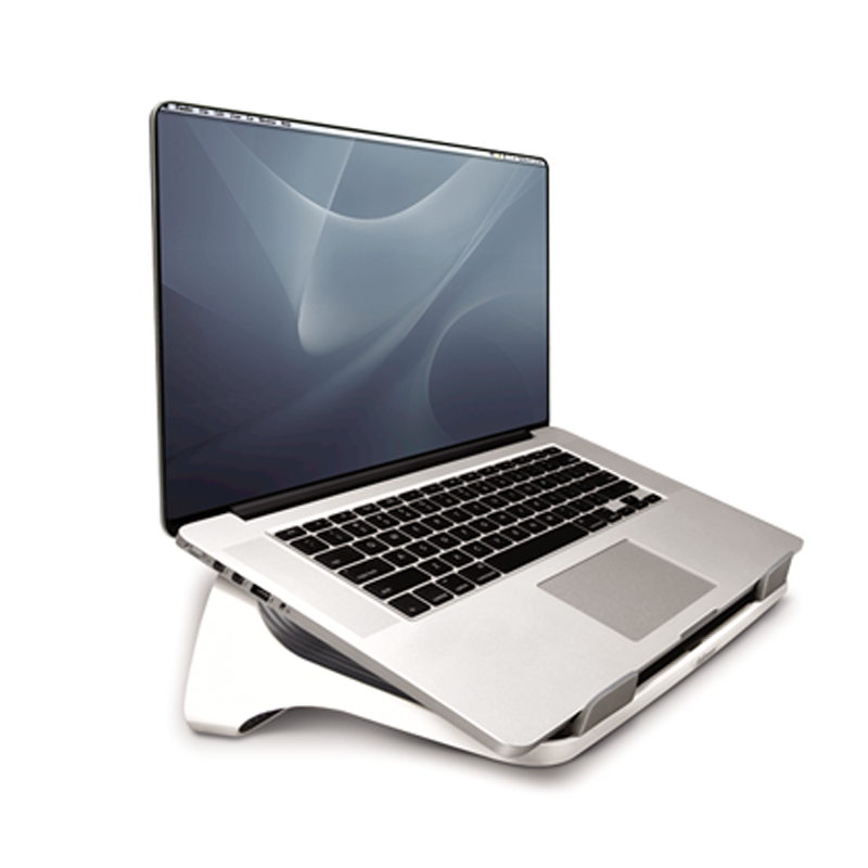Laptop Riser, White w/ Gray