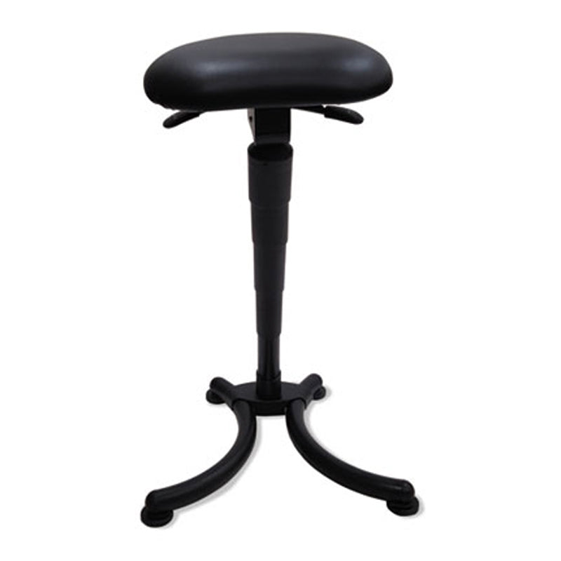 Lean-In Sit/Stand Stool, Black