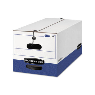 Liberty Heavy-Duty Storage Boxes, White/Blue