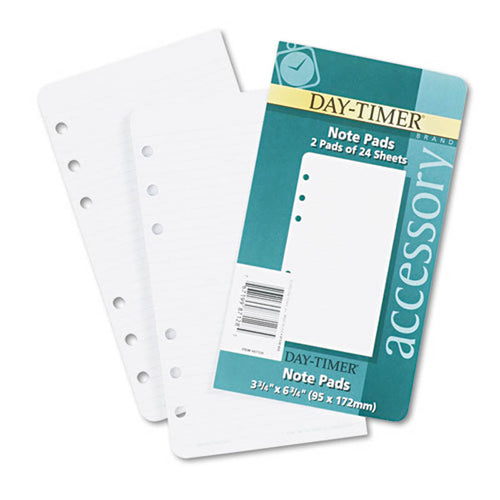 "Lined Note Pads For Organizer, 3 3/4"" X 6 3/4"""