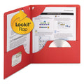 Lockit Twin-Pocket Folders, Letter, Box of 25