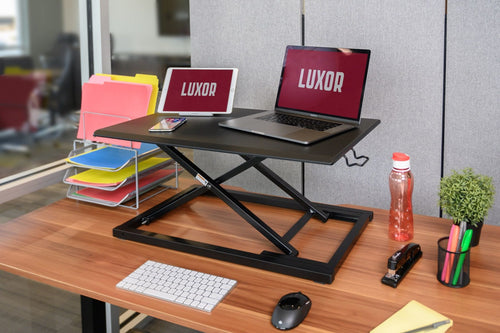 "Level Up 32"" Pneumatic Adjustable Desktop Desk"