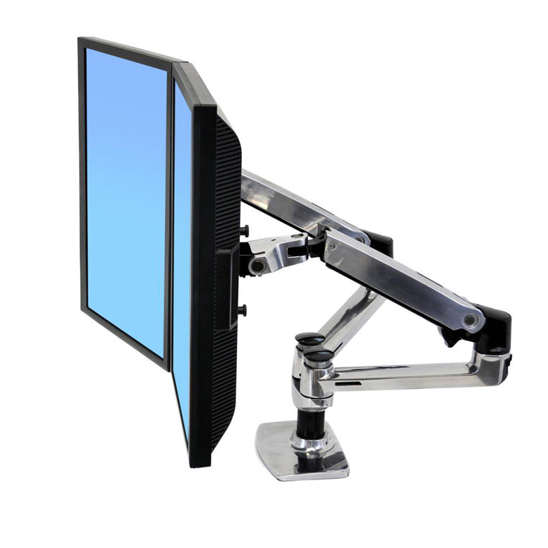 LX Series Clamp-On Side-by-Side Dual Monitor Arms