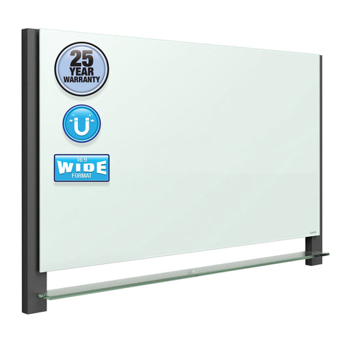 Magnetic Dry-Erase Glass Board w/ Invisible Mount