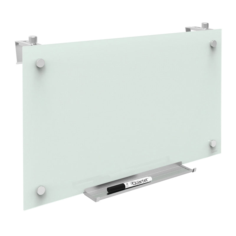 Magnetic Dry-Erase Glass Boards w/ Adjustable Cubicle Hangers