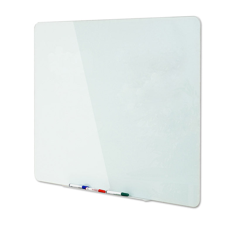 Magnetic Glass Boards w/ Pen Tray, Opaque White