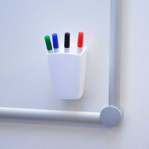 Magnetic Marker Cup w/ Set of 4 Broad-Tip Assorted Markers